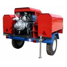 Пожарная мотопомпа Гейзер МП-40/100 пожарная на грузовом прицепе